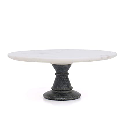 Buy Organic Home 12 Inch White Marble And Grey Marble Stand Cake Stand Cake Server Of Dining And Christmas Gifting Dining Gifting Online At Low Prices In India Amazon In