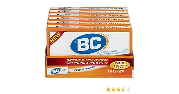 Amazon Com Bc Daytime Multi Symptom Fast Cough Cold Relief 4