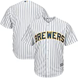 Milwaukee Brewers MLB Mens Majestic Cool Base Replica Jersey White Pinstripe Big & Tall Sizes