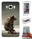 002479 - Funny Bear Bicycle Cool Design Samsung Galaxy J3 SM-J320F Fashion Trend CASE Gel Rubber Silicone Complete 360 Degrees Protection Flip Case Cover