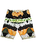 Zara Terez - Big Girls' Sushi Bike Shorts, Black, White, Orange 34059-14