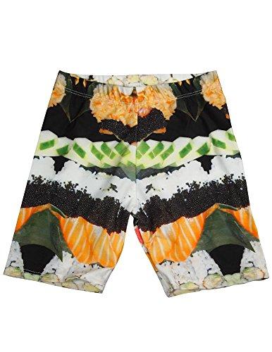 Zara Terez - Big Girls' Sushi Bike Shorts, Black, White, Orange 34059-14 -