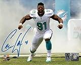 Cameron Cam Wake Autographed Miami Dolphins (Smoke) 8x10 Photo - Wake Holo