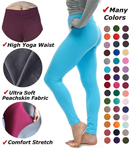 LMB Lush Moda Extra Soft Leggings - Variety of Colors - Yoga Waist - -