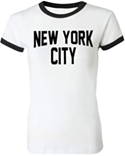 Amazon.com  NYC FACTORY Ladies John Lennon T-Shirt Womens Cap Sleeve ... ac36113cde6e