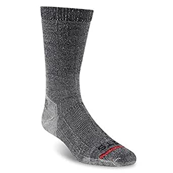 Fits Unisex Medium Expedition Rugged Crew 3-Pack Coal Socks SM (Men's Shoe 3.5-5.5, Women's Shoe 5-7)