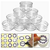 10gram/10ml Round Clear Empty Container Jars with Clear Screw Lids Bulk for Lip Balms, Makeup Samples - BPA Free (40 Pack, Clear)