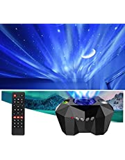 VSM Dream Aurora/Northern Light/Star Projector Light, Real Moon Like Projection, 5 in 1, Timer, Bluetooth Speaker, Brightness, Speed, Volume and Remote Control