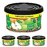 Little Trees Fiber Can Air Freshener Green Apple, 4 Pack