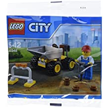 LEGO City Mini Dump Truck Vehicle and Construction Worker Minifigure Toy Set 30348 (Bagged)