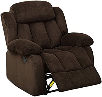 BONZY Recliner Chair Microfiber Cover with Oversized Cushion
