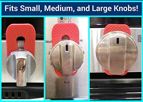 Vadiff Silicone Gas Stove Child Safety Knob Locks | Oven Knob Guard (5 Pk)(Gray)