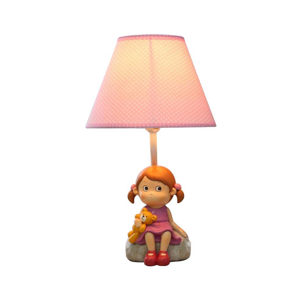 DGEG Tischlampe kreative Mode Cartoon warme süße Mädchen Beleuchtung Geburtstagsgeschenk für Schlafzimmer Nacht   Kinderzimmer (Größe   L)