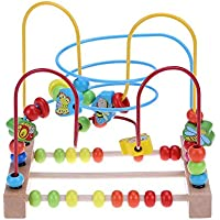 Childplaymate Wooden Bead Baby Toddler Toys Early Educational Circle Toy