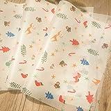 Eaglers Sandwich Wrap Paper 100pcs 25x35cm Christmas Wax Paper for Sandwich Hamburger Burger Food wrap