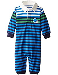 Baby Boys Multi Color Stripe Rugby Romper
