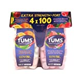 Tums - Extra Strength - 4 x 100 tablets