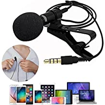 Sinotech Grade Lavalier Lapel Microphone, Omnidirectional Mic with Easy Clip On System ­for Android & Windows Smartphones,YouTube,Studio,Video Recording,Noise Cancelling Mic