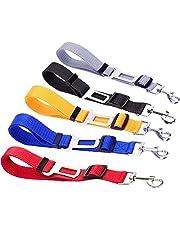 5-pack hondenveiligheidsgordel, Biluer verstelbare autogordel voor honden Hondenautogordel Veiligheidsgordel voor reis en dagelijks gebruik Verstelbare elastische riem en multifunctioneel
