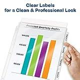Avery 8-Tab Sheet Protectors Dividers, Printable