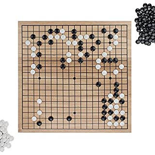 "Go Set with Natural Wood Board | Portable 29 x 29cm (11.4"" x 11.4"") Set 