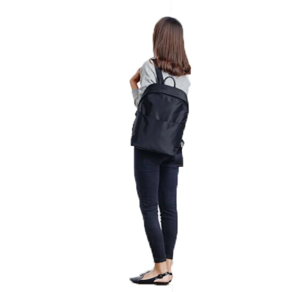 Black OneSize Girl 13 Inches Computer Backpack Waterproof Fashion Backpack Simplicity Temperament Nylon Backpack Leisure Travel College Wind Outdoor Shopping Dating Pack,BlackOneSize