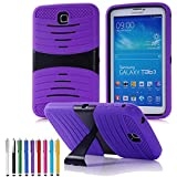 "Goldcherry Hybrid Rugged with Kickstand Cover Hard Case for Samsung Galaxy Tab 3 8.0"" SM-T310/T311 (Galaxy Tab 3 8.0"", Purple)"