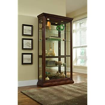 Pulaski Two Way Sliding Door Curio, 43 by 16 by 80-Inch