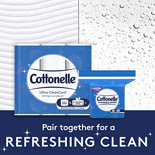 Cottonelle Flushable Wet Wipes - 1 Refill Pack, 252 Total Flushable Wipes
