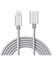 MeloAudio 3FT Braid Extension Cord Cable Charging Sync Vedio & Audio Compatible iOS Devices, Male to Female Dock Extender Connector Case Adapter