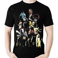 Camiseta Anime Shounen Naruto One Piece Dragon Ball Camisa Blusa