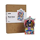 ROBOTIME 3D Wooden Puzzles Hand Crank Music Box DIY Assemble Craft Kits Great Birthday for Adults, Boys and Girls Age