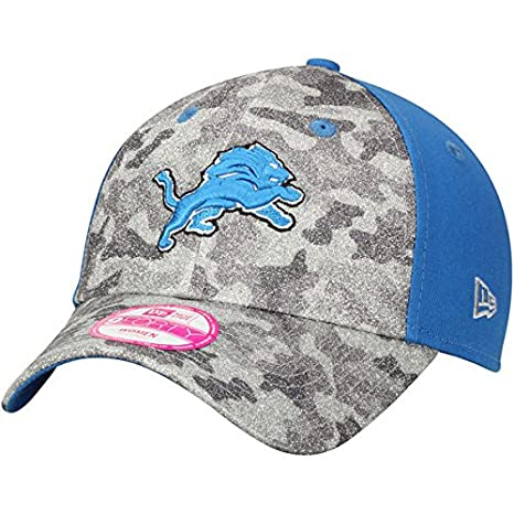 new arrival 7944f 4facd ... australia detroit lions new era womens glamo camo 9forty adjustable hat  gray blue efefa b0271