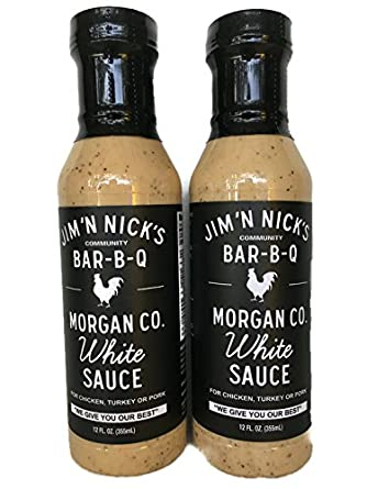 Amazon.com : Jim 'N Nicks World Famous White Sauce 12oz (Pack of 2 ...