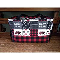 Diaper Bag - Baby Bear or Little Man Moose with plaid