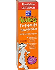 Pack of 2 x Kiss My Face Kids Toothpaste Fluoride Free Berry Smart - 4 oz