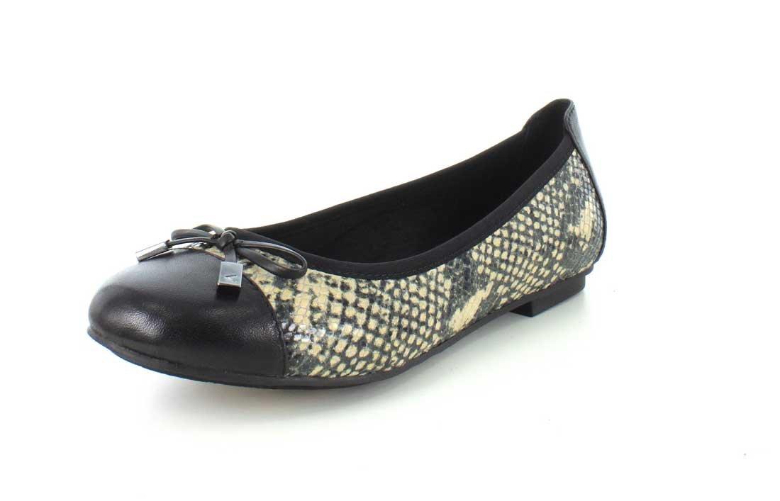 Vionic Women's Spark Minna Ballet Flat B00YNN3DEU 9 W US|Natural Snake