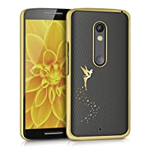 kwmobile Elegant and light weight Crystal Case Design fairy for Motorola Moto X Play in gold transparent