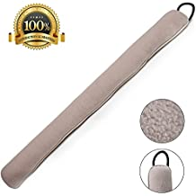 Home Intuition 3-Feet Draft Stopper Cloth Seal Weather Stop, Beige