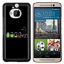 HTC ONE M9+ M9 PLUS Back Cover Shell - Battery Life Cycle Funny