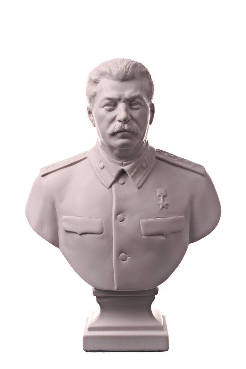 Sowjetischer russischer Chef Joseph Stalin Marmor Büste Statue Skulptur 25 cm
