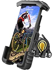 """Bike Phone Mount, Gupacido Phone Holder for Bike Motorcycle Anti Shake Bike Phone Holder Universal Bicycle Cell Phone Holder for iPhone 12 11 Pro Max Samsung S20 S10 Oneplus All 4.7"""" - 6.8"""" Cellphone"""