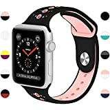 KOLEK For Apple Watch Bands, Accessories Classic Band for Apple Watch Series 1/2/3 42mm, Black/Pink