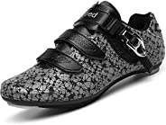 Cycling Shoes for Men Women Luminous Road Cycling Riding Shoes Peloton Shoes Breathable Cleat Compatible SPD L