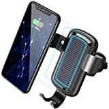 Wireless Car Charger,CAFELE QI Wireless Charger Car Mount Air Vent Phone Holder Gravity 10W Fast Charging for Samsung Galaxy S8/S8+, S7/S7 Edge, Note 8/5, Standard Charging for iPhone X, 8/8 Plus