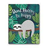 Orange Circle Studio 2020 Just Right Monthly Planner, August 2019 - December 2020, Don't Hurry, Be Happy