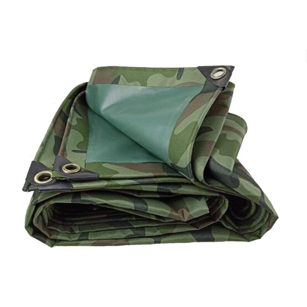 DGLIYJ テント、   防水ターポリン 雨よけ 日焼け止め キャンバス   ジャングル迷彩   オックスフォード布   キャンプ   レインカバー / 420G (Size : 3x4m)  3x4m