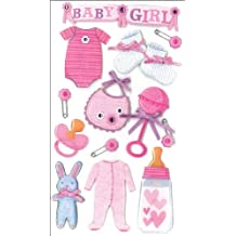 Jolees Boutique Dimensional Stickers, Baby Girl