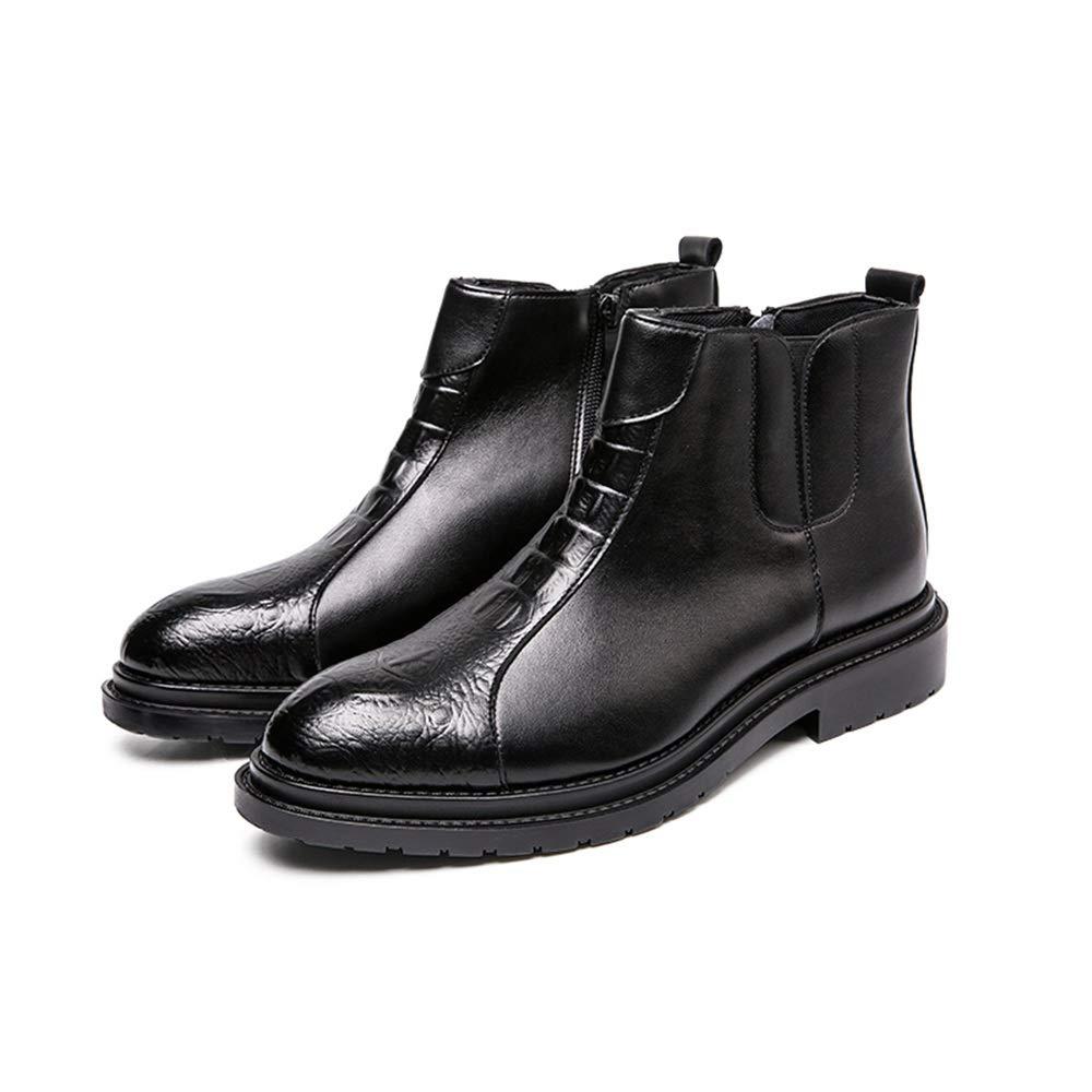 2018 2018 2018 Herren Stiefel Sommer schuhe, Mode Stiefeletten Casual personalisierte Nähte für Bequeme Reißverschlüsse High Top Stiefel für Männer (Farbe   Schwarz, Größe   42 EU) d31215