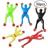 TOYANDONA 30pcs Stretchy Sticky Toy Assortment Including Sticky Hands Wall Climber Men Sticky Hammers Novelty Fun Toy